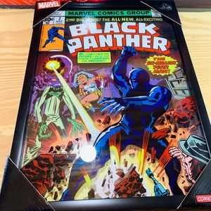 LIMITED BLACK PANTHER MARVEL COMICS 20'x 15'inch